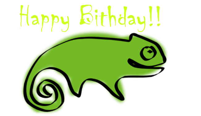 Happy bithday_opensuse