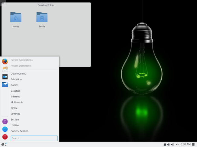 Escritorio de openSUSE Leap