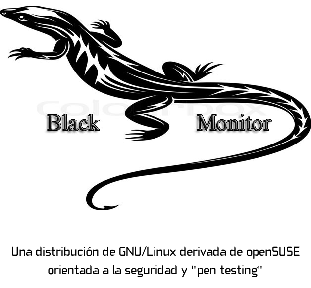 El lagarto Black Monitor
